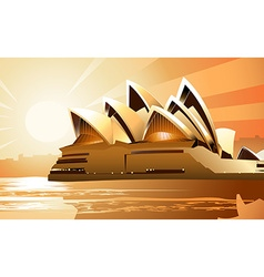 Sydney opera house at sunrise vector
