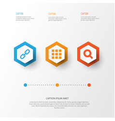 User icons set collection of application vector