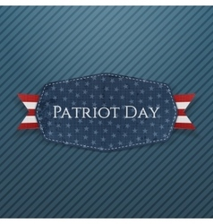 Patriot day text on emblem with ribbon vector