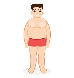 Fat man obesity vector