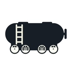 Tank wagon train vector