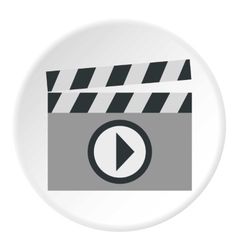 Clapboard icon flat style vector