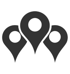 Map Locations Flat Icon vector image