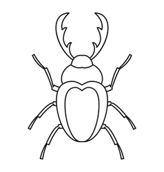 Stag beetle icon outline style vector