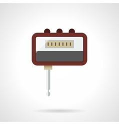 Portable headphone amp flat color icon vector