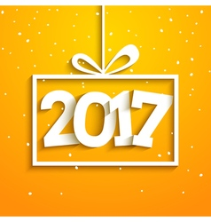 Contemporary modern 2017 new year card holiday vector
