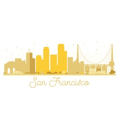 San Francisco City skyline golden silhouette vector image
