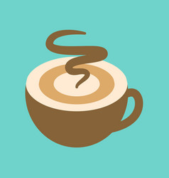 Flat icon on background coffee cup flavor vector