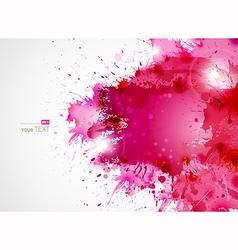 Pink blots vector