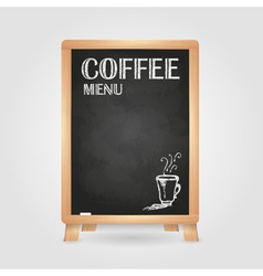 Chalk drawings Retro typography Coffee vector image