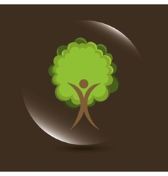 Nature icon vector