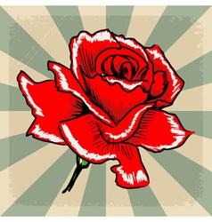 Vintage grunge background with rose vector