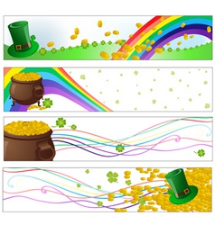 Saint patrick day party banners vector