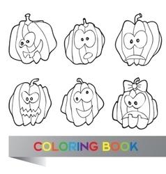 Halloween - coloring book vector