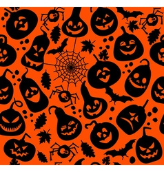 Seamless pattern of halloween vector