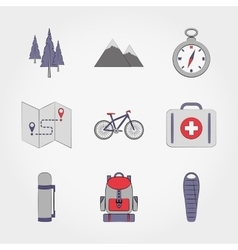 Camping set icon vector