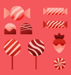 Candies for valentines day vector