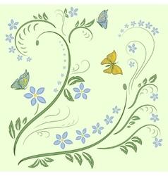 Floral ornament design vector