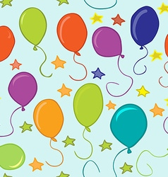 Baloons and stars pattern vector