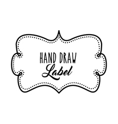 Frame icon hand draw label design graphic vector
