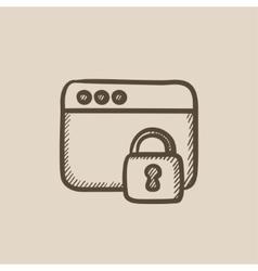 Security browser sketch icon vector
