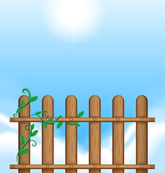 A fence with vineplants vector