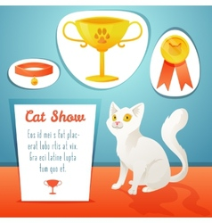 Cat winner vector image vector image