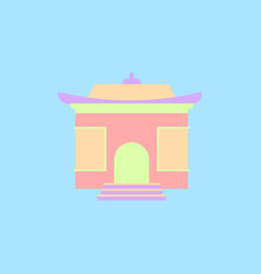 Chinese holiday home tample vector