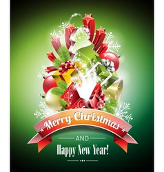 Christmas with magic gift boxes vector image vector image