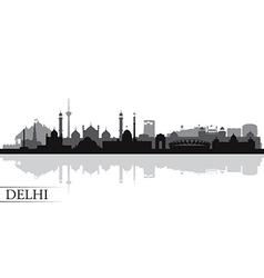 Delhi city skyline silhouette background vector