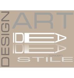 Design style art composition vector