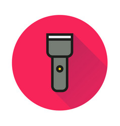Flashlight icon on white background vector