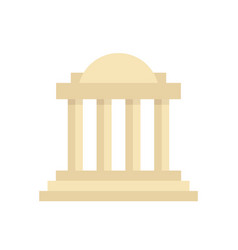 greek colonnade building with columns vector image