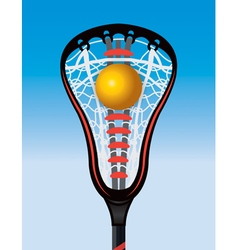 Lacrosse stick and ball vector