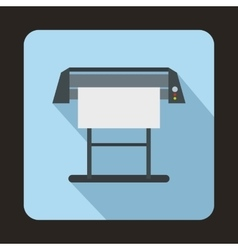 Large format inkjet printer icon flat style vector