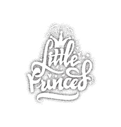 Little princess pointillism - calligraphic patch vector