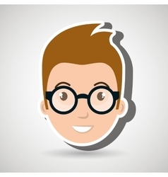 man character boy icon vector image