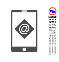 mobile email icon with set vector image vector image