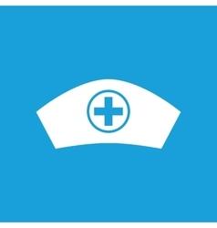 Nurse cap icon white vector
