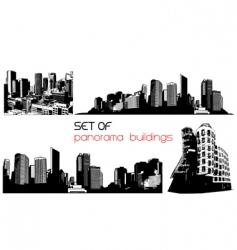 Panorama cities vector