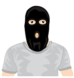 Persons in black mask vector image vector image