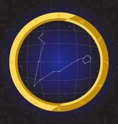 Pisces star horoscope zodiac in fish eye vector