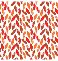 Red and orange autumn leaves grunge seamless vector