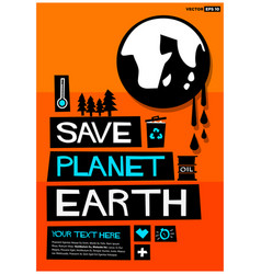 save planet earth vector image