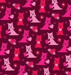 Scottie valentine pattern vector