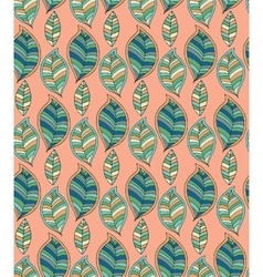 Seamless green pattern with hand drawn stylized vector image vector image