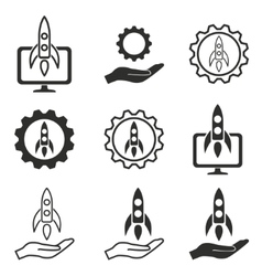 Start up icon set vector
