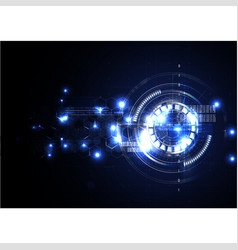 Technological abstract electrical interface vector