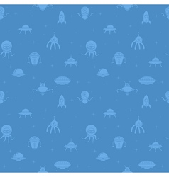 UFO seamless wallpaper vector image