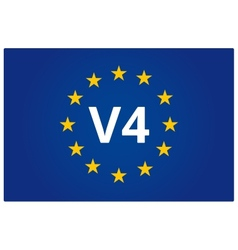 V4 eu flag vector